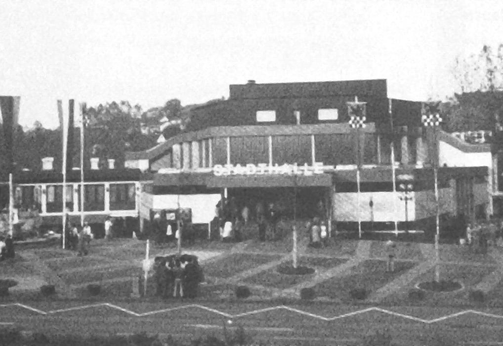 Stadthalle fertig 1978