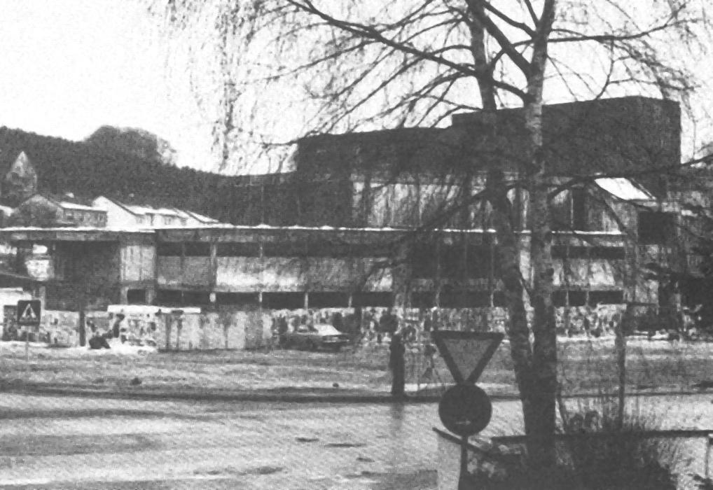 Stadthalle im Bau 1977
