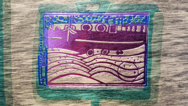 Hundertwasser, Holzschnitt