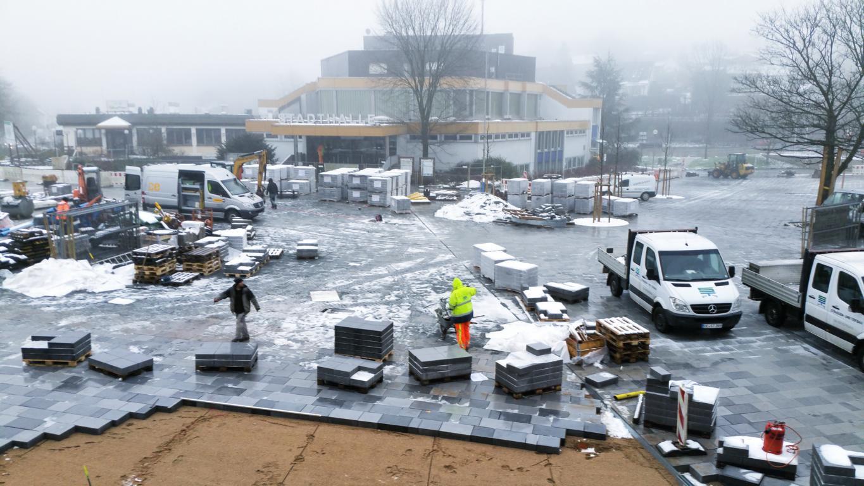 Stadthalle, Meinerzhagen, Bauarbeiten