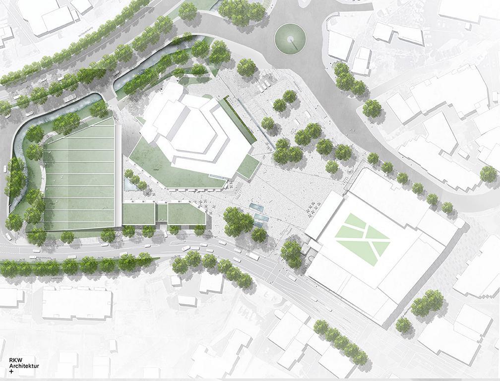 Stadthalle Meinerzhagen - Konzeptentwurf, Lageplan