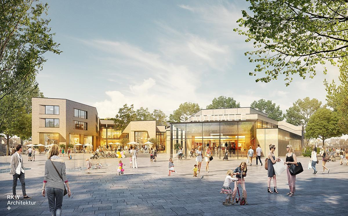 """Stadthalle Meinerzhagen, Konzeptentwurf """"Neuer Stadtplatz"""""""