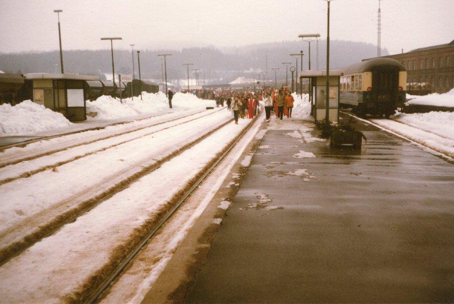 Bahnhof Meinerzhagen, Winter 1980