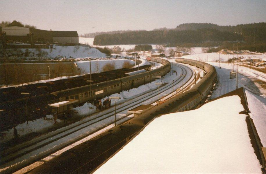 Winter 1980/81, Bahnhof Meinerzhagen