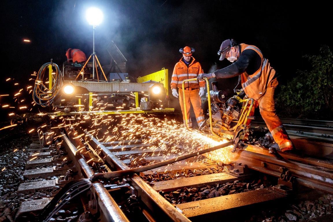 Gleisarbeiten der Deutschen Bahn, 2018 © Foto: Deutsche Bahn AG / Marco Prosch